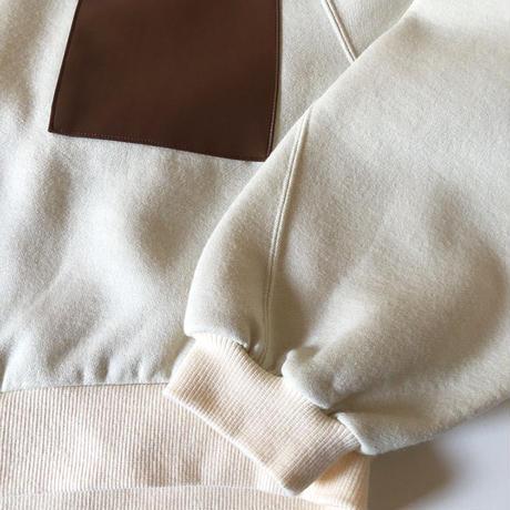 washable wool foodied  sweatshirts(ecru)