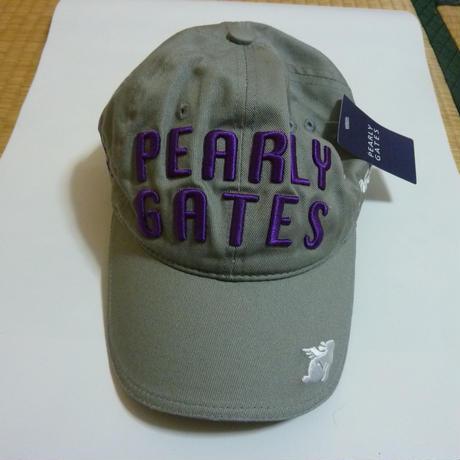 帽子「PEARLYGATES」グレー色