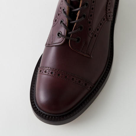 Tricker's(トリッカーズ)- MALTON M7527  Leather Sole -BURGUNDY