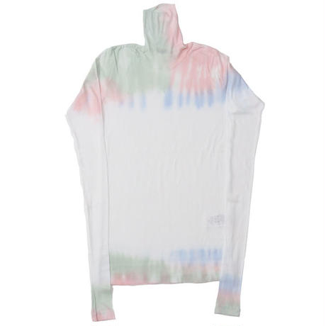 "Ladies' /AURALEE(レディース オーラリー)""HIGH GAUGE SHEER RIB TIEDYE TURTLE NECK L/S TEE"""