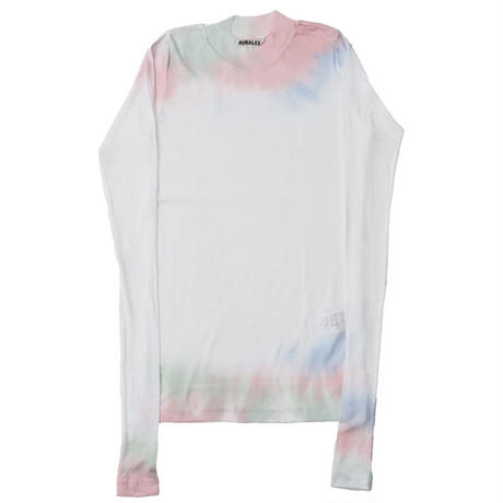 "Ladies' /AURALEE(レディース オーラリー)""HIGH GAUGE SHEER RIB TIEDYE L/S TEE"""