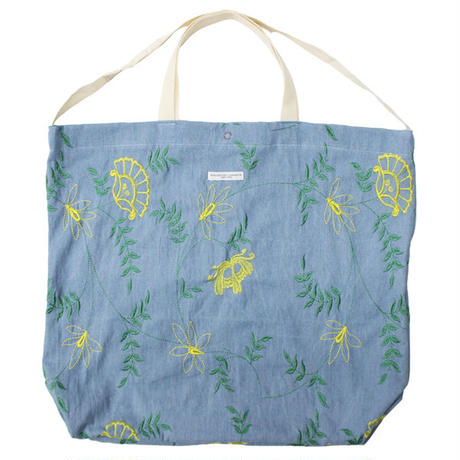 "ENGINEERED GARMENTS(エンジニアード ガーメンツ)""Carry All Tote - Denim Floral Embroidery"""