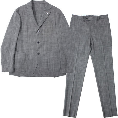 "LARDINI(ラルディーニ)""Stretch Wool Check 3B Packable Suit [EASY WEAR]"""