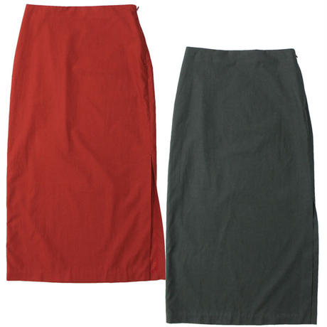 "Ladies' AURALEE(レディース オーラリー)""WASHED FINX TWILL SLIT SKIRT"""