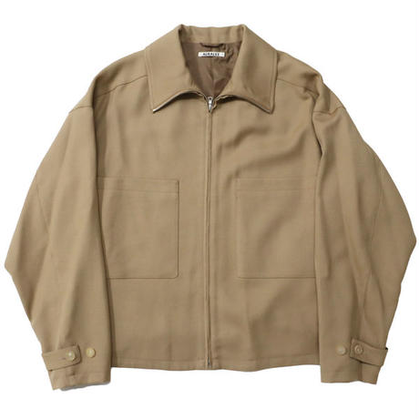 "AURALEE(オーラリー)""WOOL SERGE ZIP-UP BLOUSON"""