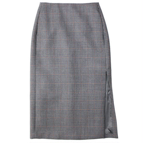 "Ladies' /AURALEE(レディース オーラリー)""DOUBLE FACE CHECK SLIT SKIRT"""
