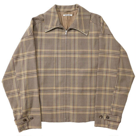 "AURALEE(オーラリー)""WOOL SERGE CHECK ZIP-UP BLOUSON"""