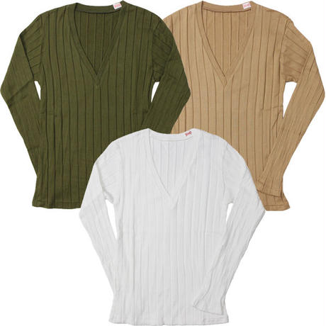 """Ladies' /YOUNG&OLSEN The DRYGOODS STORE(ヤング&オルセン ドライグッズ ストア)""""BROAD RIB V NECK LS"""""""