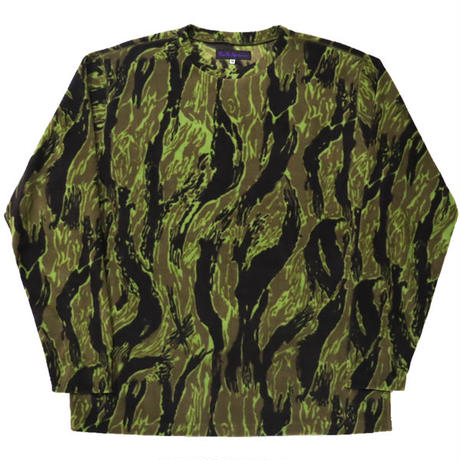 "NEEDLES SPORTSWEAR(ニードルス スポーツウエア)""L/S Crew Neck Tee - Poly Fleece / Tiger Camo Stripe"""