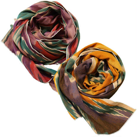 "Engineered Garments(エンジニアード ガーメンツ)""Long Scarf - Cotton Ikat"""