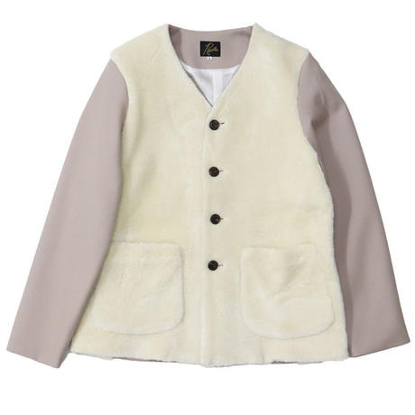 "Ladies' /NEEDLES WOMAN(ニードルス ウーマン)""Front Boa V Neck 2P Jacket - Dry Wool Twill"""