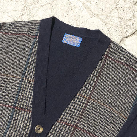 70's PENDLETON Wool Check Cardigan