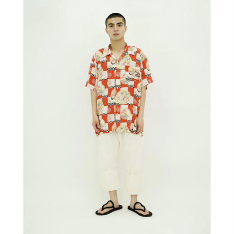 Japonism Rayon Orpen Collar Shirt