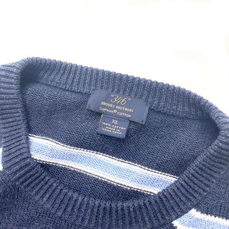 Brooks Brother Border Cotton Knit