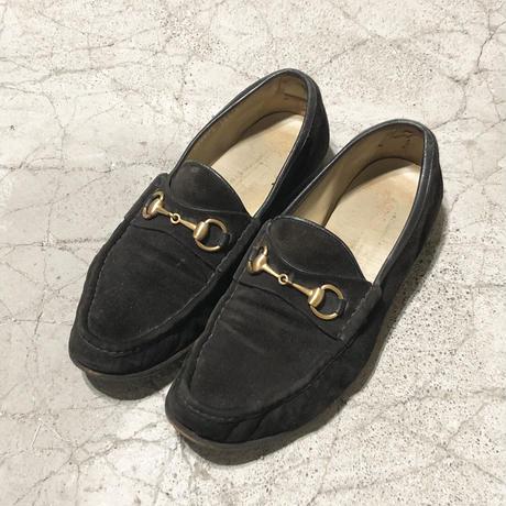 "90's GUCCI Horsebit Loafer ""Black Suede"""