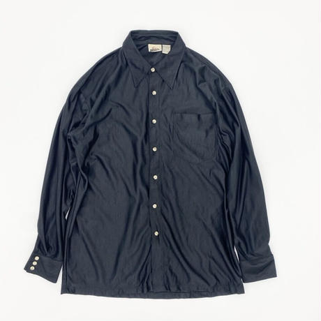Satin Look Black Shirt