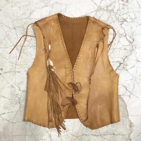 70's North Beach Handmade Leather Vest