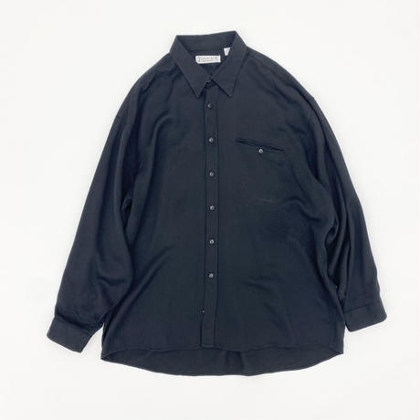 Rayon Black Over Shirt