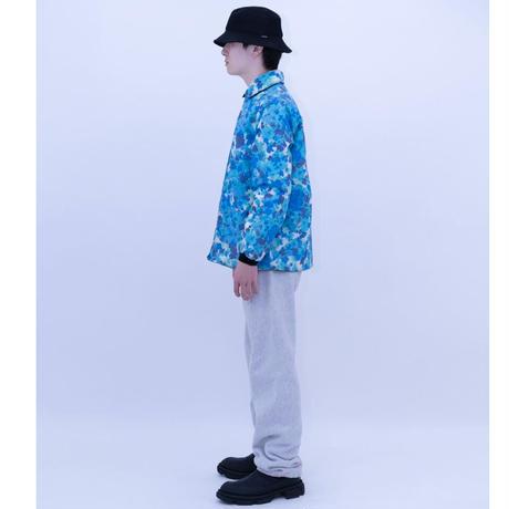 Hawaiian Flower Reversible Nylon Jacket