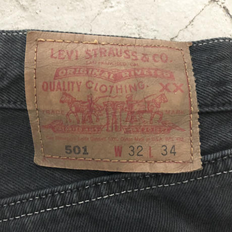 90's Levi's 501 After Color Fringe Jeans