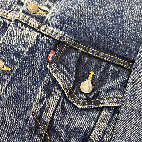 "Vintage Levi's Denim Tracker Jacket ""Stone Wash"""
