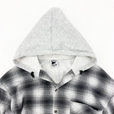 Shadow Check Flannel Hoodie