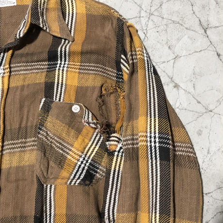 【WOMENS】70's Broken Winter King FlannelShirt