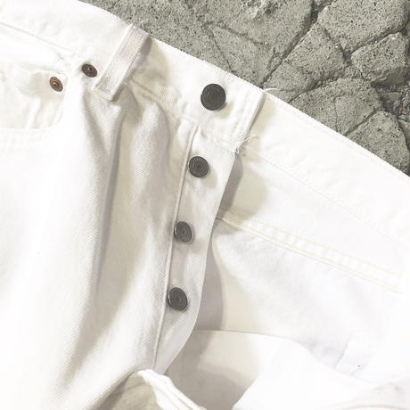"Vintage Levi's 501 White Jeans ""Made in USA"""