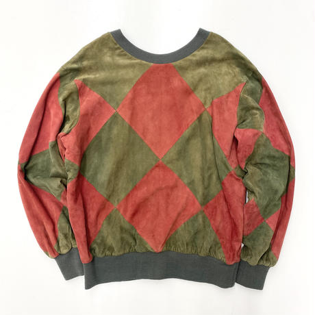 Vintage Suede Switching Pullover