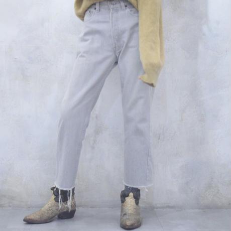"Vintage Levi's 501 Fringe Jeans ""Silver White"""