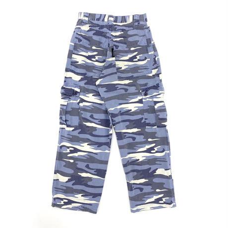 """BEACH CREW"" Blue Camouflage Skate Pants"