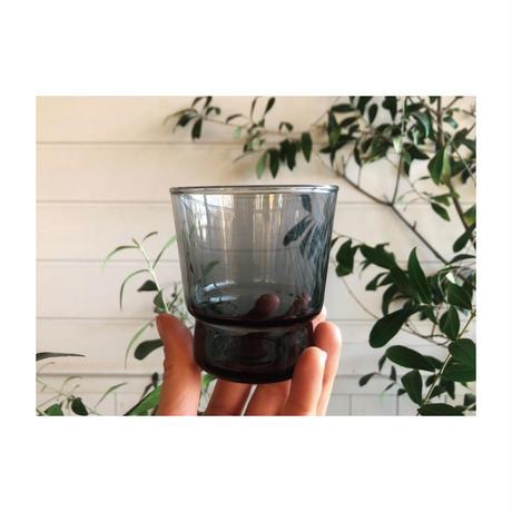 【 ヴィンテージ 】墨黒のガラスコップ