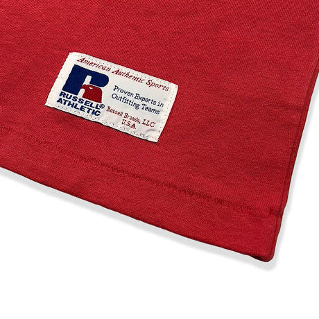 RUSSELL ATHLETIC  プリントTシャツ<1001PT KIDS_OLD RED>