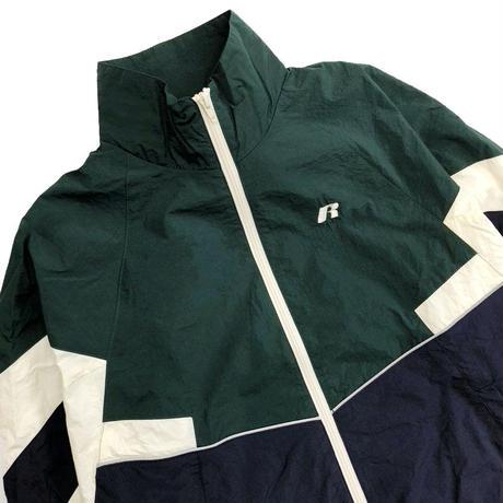 Nylon Track Jacket <19045_GREEN×NAVY>