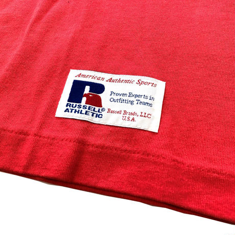 RUSSELL ATHLETIC ポケ付Tシャツ1002<レッド>