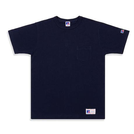 RUSSELL ATHLETIC ポケ付Tシャツ<1002_NAVY>