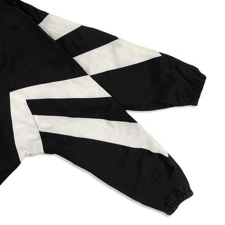Nylon Track Jacket <19045_BLACK×WHITE>