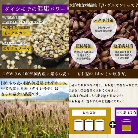 【コチラはお米5kg以上と同時購入の方のみ購入可能!】2,000g(約70~100合分)【リピーター様300名様超!農家直送】【超高品質もち麦】【栄養価の高い品種「ダイシモチ」】