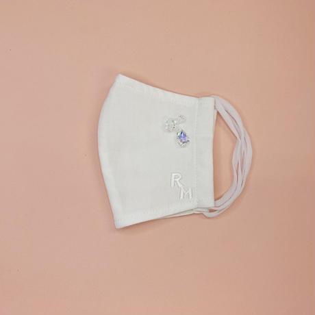 DENIM MASK- 3257  white/bijou  Mサイズ