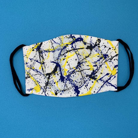 DENIM MASK- 2820 white/yellow×blue×black  Mサイズ