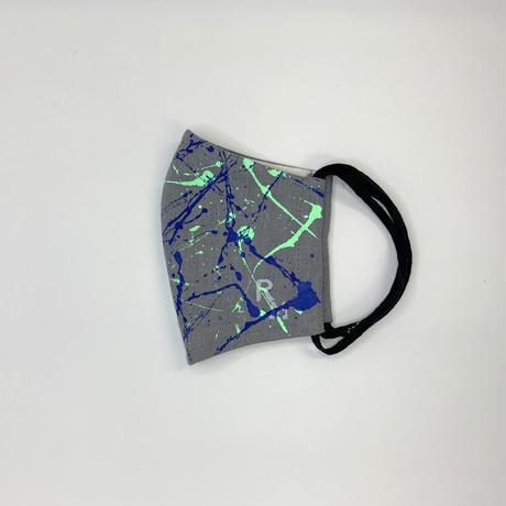 DENIM MASK- MASK-2843  gray/soft green×blue  Mサイズ