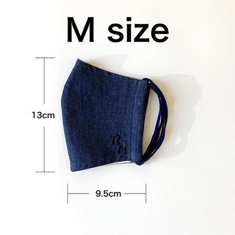 DENIM MASK- MASK-3028  indigo/bijou  Mサイズ