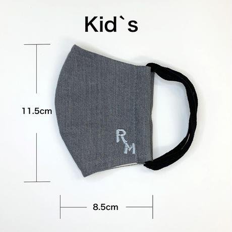 BLACK DENIM MASK  kid`sサイズ