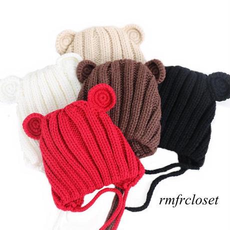 くま耳ニット帽子(340)