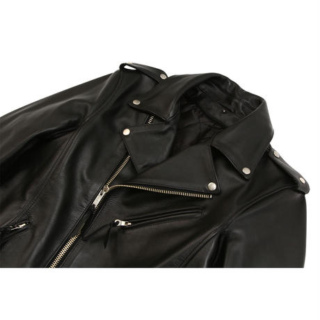 Plane Cow Lether Double Riders Jacket