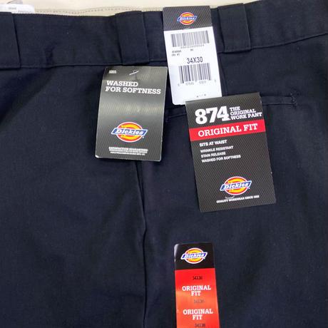 DICKIES 874 WORK PANTS Rinsed Black ディッキーズ ワークパンツ リンスドブラック