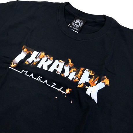 THRASHER  INTRO BURNER S/S TEE  BLACK スラッシャー Tシャツ