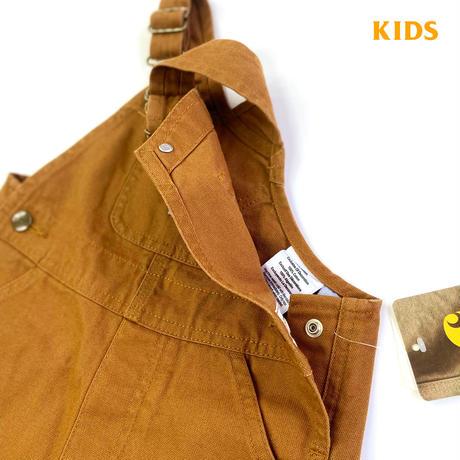 CARHARTT KIDS CANVAS BIB OVERALL BROWN  カーハート キッズ オーバーオール ブラウン 子供用