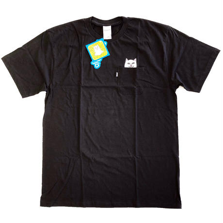 RIPNDIP / LORD NERMAL POCKET TEE S/S TEE BLACK リップンディップ Tシャツ