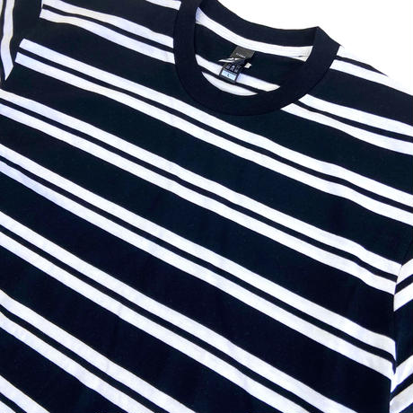 AS COLOUR Classic Stripe Tee BlackxWhite エーエスカラー ボーダー Tシャツ